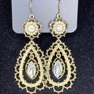 Brass Deco Earrings